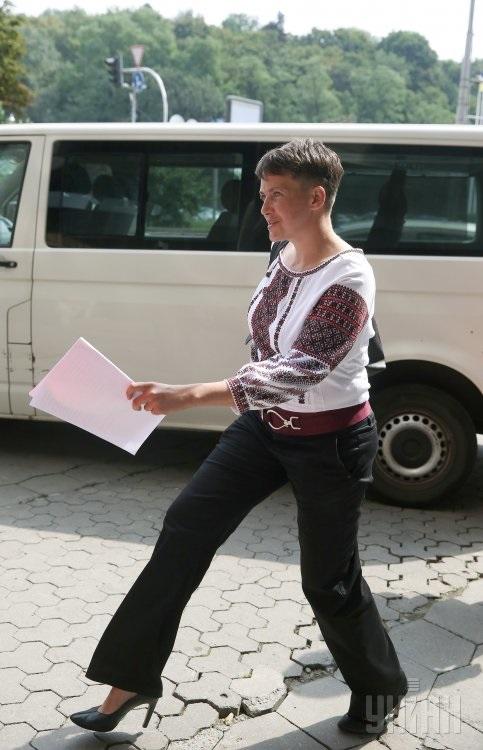 Савченко на підборах уніан