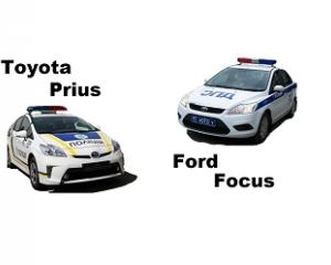 Toyota Prius Vs Ford Focus українська поліція проти російської ІНФОГРАФІКА