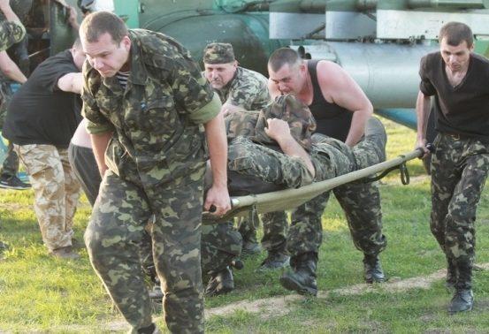 Взоне АТО контужен один иранены трое украинских военных