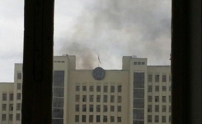 Минские cотрудники экстренных служб предотвратили пожар вДоме руководства