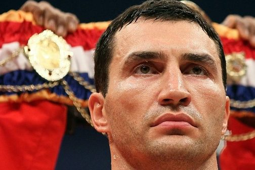FRANKFURT AM MAIN, GERMANY - SEPTEMBER 11:  Wladimir Klitschko of Ukraine looks on before the WBO and IBF World Championship Heavyweight fight against Samuel Peter of Nigeria on September 11, 2010 at the Commerzbank Arena in Frankfurt, Germany. (Photo by Christof Koepsel/Bongarts/Getty Images)