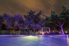21157132 - the quiet night watching the meteor rain