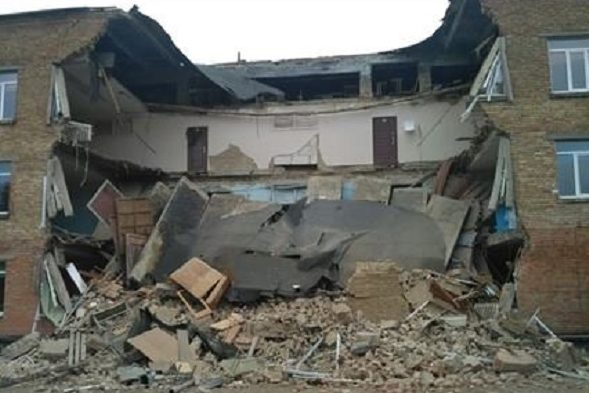 Впроцессе занятий вшколе обрушилась несущая стена— катастрофа вВасилькове