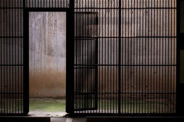 29587786 - grided door in parking basement
