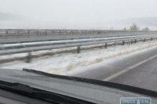 На трасі Одеса Київ випав сніг