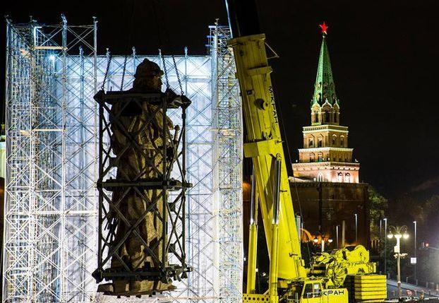 В столицеРФ всубботу начнется монтаж монумента правителю Владимиру