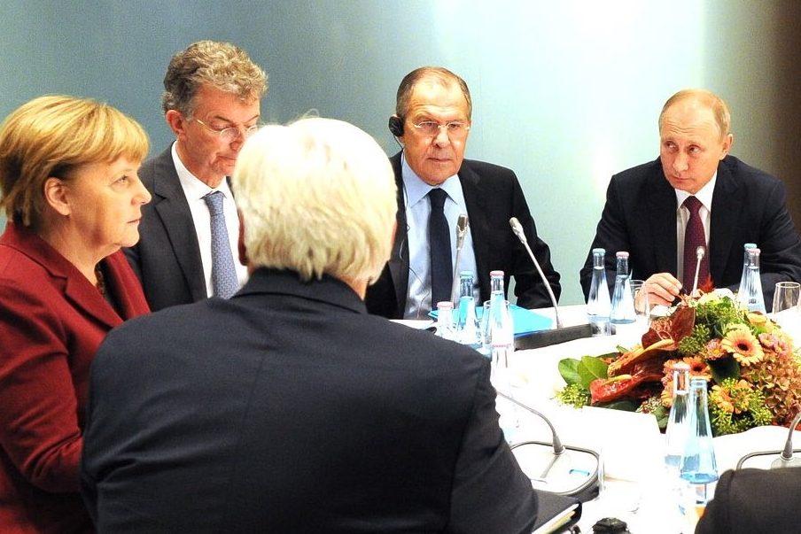 Путін Лавров Меркель