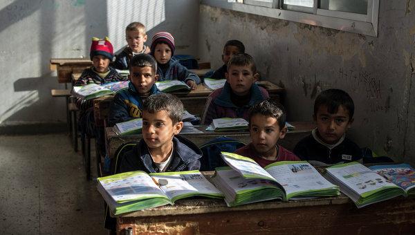 обстрел школы в сирии