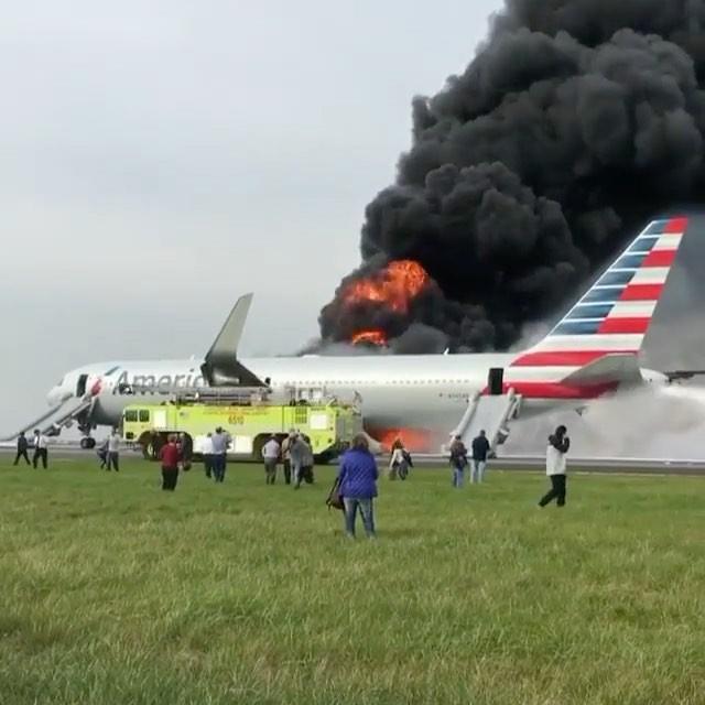 фото горящего самолета из доминиканы этот