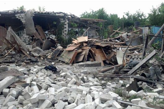У Красногорівці через обстріл поранено мирних мешканців