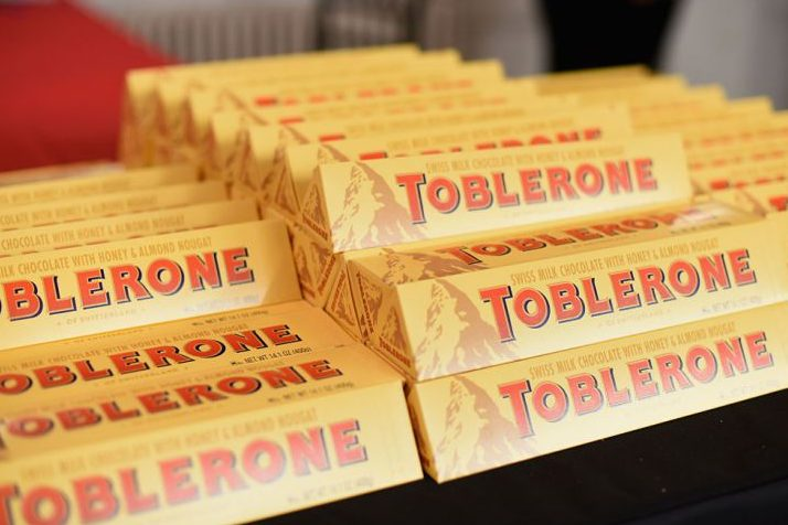NEW YORK, NY - OCTOBER 16:  Toblerone on display at Tales of a Tuscan Butcher hosted by Dario Cecchini as a part of the Bank of America Dinner Series during the Food Network New York City Wine & Food Festival Presented By FOOD & WINE at The International Culinary Center on October 16, 2014 in New York City.  (Photo by Mike Pont/Getty Images for NYCWFF)