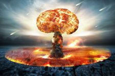 46578271 - danger of nuclear war illustration with multiple explosions