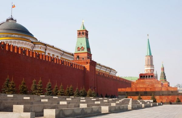 10890919 - day view of the red square, moscow kremlin and lenin mausoleum, moscow, russia