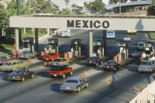 20476273 - the san diego and tijuana mexico border station