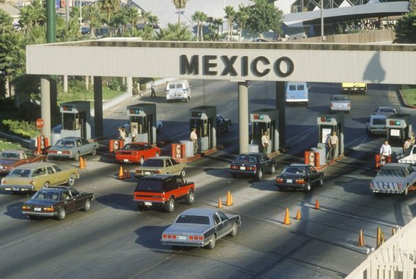 20476273 - the san diego and tijuana mexico border station