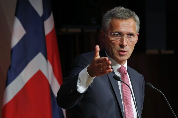 Norway's Prime Minister Jens Stoltenberg answers a question from the audience following his speech at the Kennedy School of Government at Harvard University in Cambridge, Massachusetts, in this September 25, 2013 file picture. NATO ambassadors chose former Norwegian Prime Minister Jens Stoltenberg as the next leader of the Western military alliance, NATO said on March 28, 2014. He will take over as secretary-general from October 1, 2014, succeeding Anders Fogh Rasmussen, NATO said in a statement.  REUTERS/Brian Snyder/Files    (UNITED STATES - Tags: POLITICS EDUCATION)