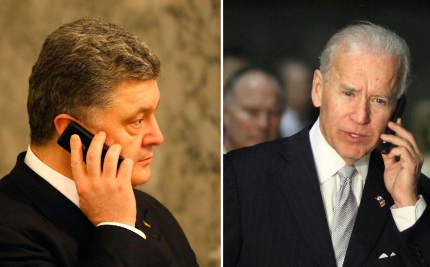 Порошенко пороворив з Байденом про санкції проти РФ