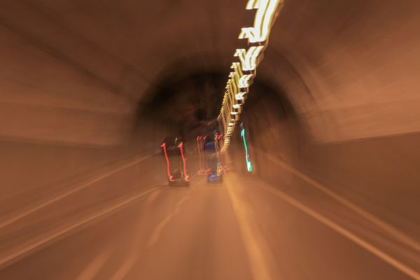 59850740 - road view from inside car light other cars is motion blurred,look like man drunk driving car.
