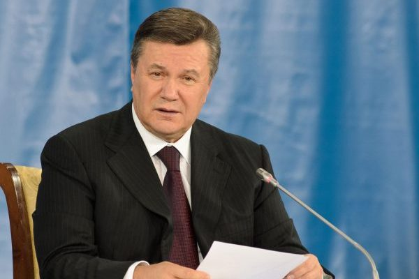 23705988 - donetsk, ukraine - oct 18: the president of ukraine viktor yanukovych at the ii ukrainian-russian interregional economic forum, october 18 2011, donetsk, ukraine