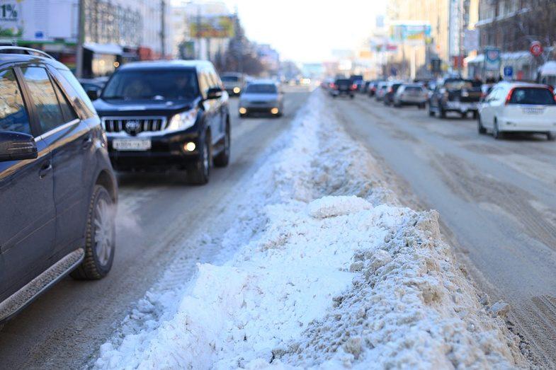 ВКиеве из-за снегопада пробки в7 баллов