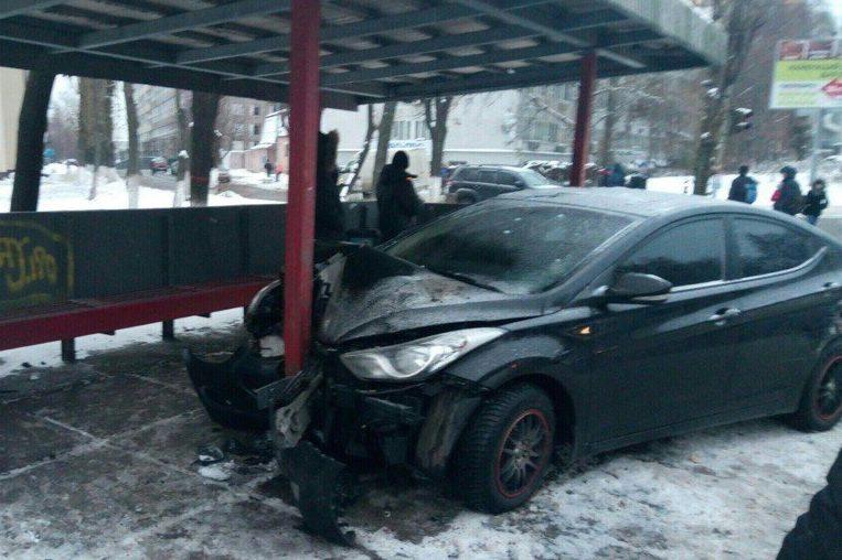 Київ зупинка ДТП