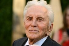 Actor Kirk Douglas arrives at the 2013 Vanity Fair Oscars Viewing and After Party on Sunday, Feb. 24 2013 at the Sunset Plaza Hotel in West Hollywood, Calif. (Photo by Jordan Strauss/Invision/AP)