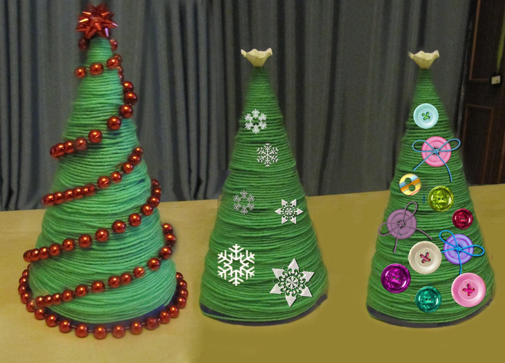 Оригинальные новогодние елки своими руками 13