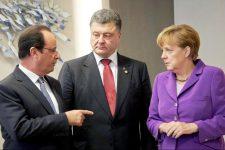 Порошенко, Меркель, Олланд