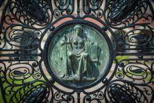 61913775 - alloy gates of the peace palace  in the hague. justice