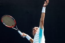 MELBOURNE, AUSTRALIA - JANUARY 17:  Alexandr Dolgopolov of Ukraine serves in his first round match against Borna Coric of Croatia on day two of the 2017 Australian Open at Melbourne Park on January 17, 2017 in Melbourne, Australia.  (Photo by Jack Thomas/Getty Images)