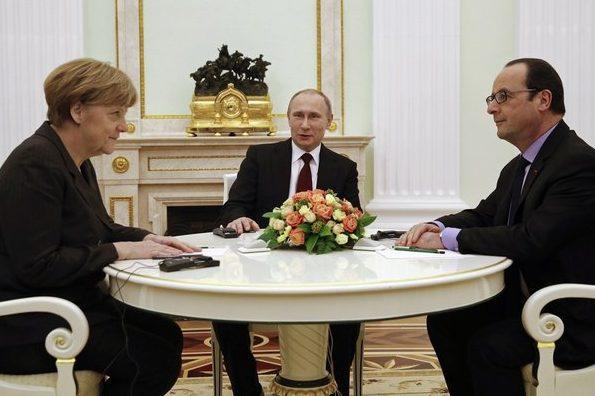 Меркель, Путін, Олланд