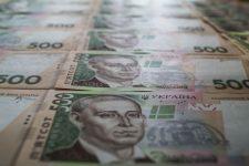 57532249 - ukrainian money hryvnia closeup many pieces are