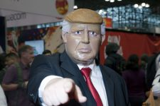 64566871 - new york, new york - october 9: man wearing donald trump costume at ny comic con at jacob k. javits convention center.  taken october 9, 2016 in  new  york.