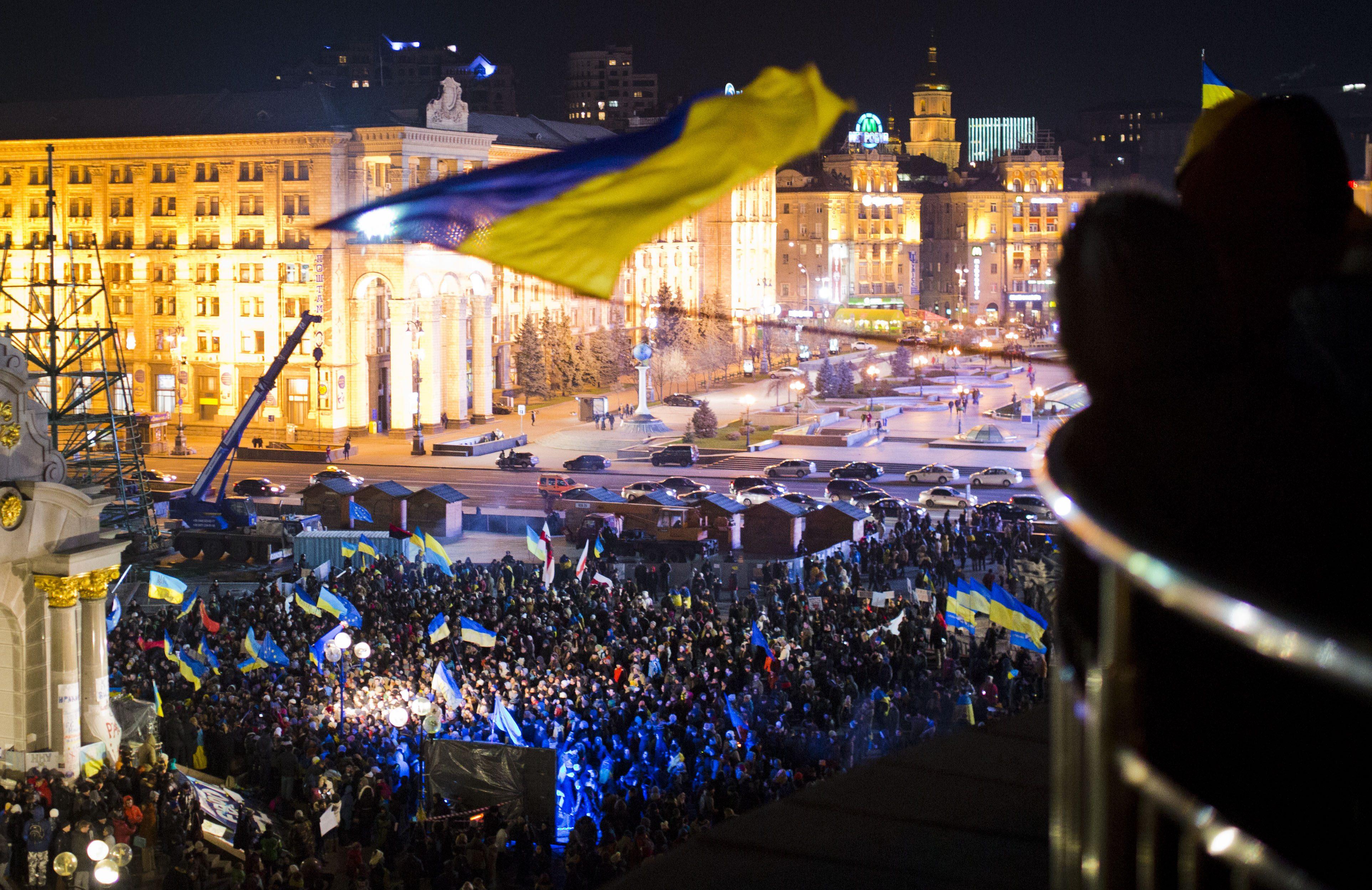 Вцентре украинской столицы установлены рамки сметаллоискателями