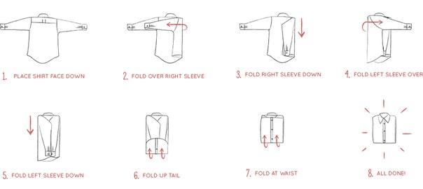 52bdd853441b0e3 Как складывать рубашку
