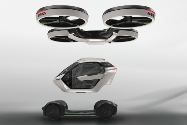 Airbus продемонстрировал летающий автомобиль спропеллерами