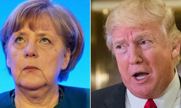 Трамп обсудит сМеркель роль США вурегулировании конфликта навостоке Украинского государства