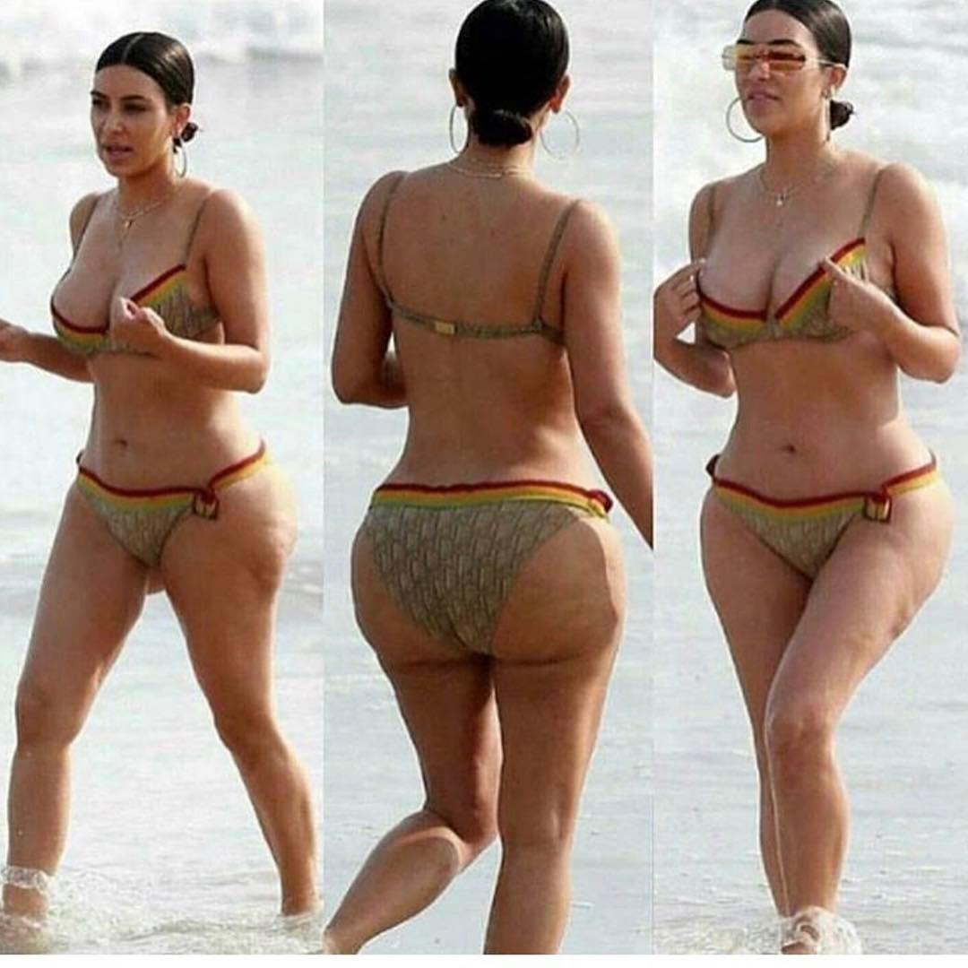 Ким Кардашьян: фото без фотошопа - Woman's Day