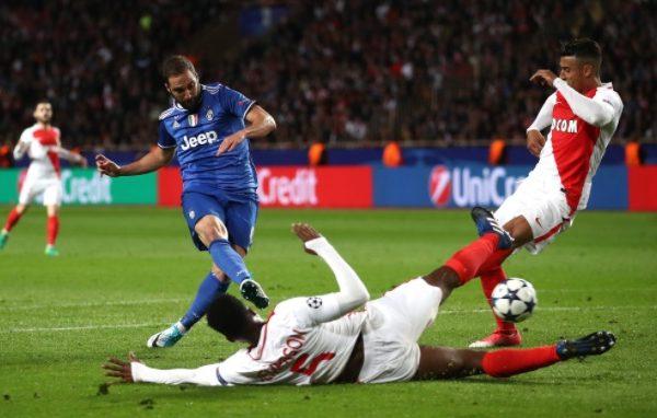 «Монако» проиграл «Ювентусу» впервом полуфинальном матче Лиги чемпионов 2016/2017