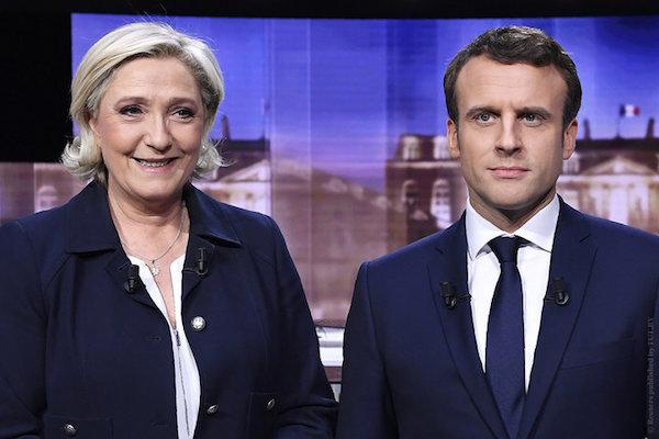 Макрон и Ле Пен