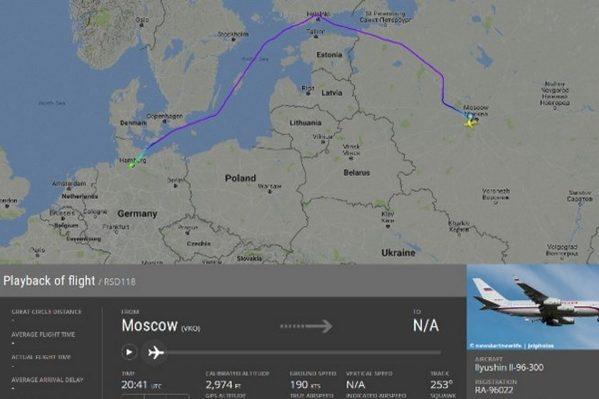Дивний маршрут: літак Путіна зробив «гак» у500 кілометрів