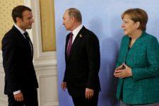Макрон, Путін, Меркель