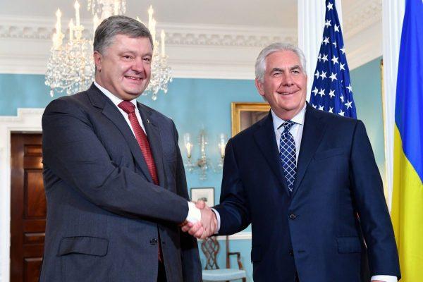 встреча порошенко и тиллерсона