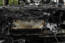 Згорівший автобус