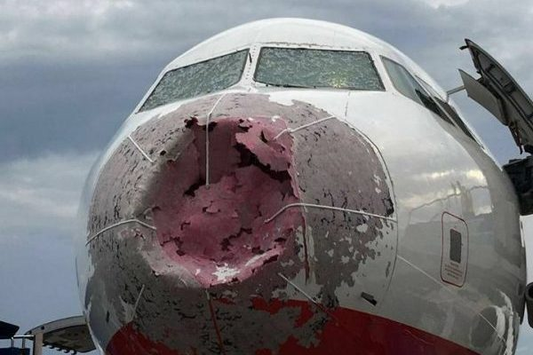 украинец посадил разбитый самолет