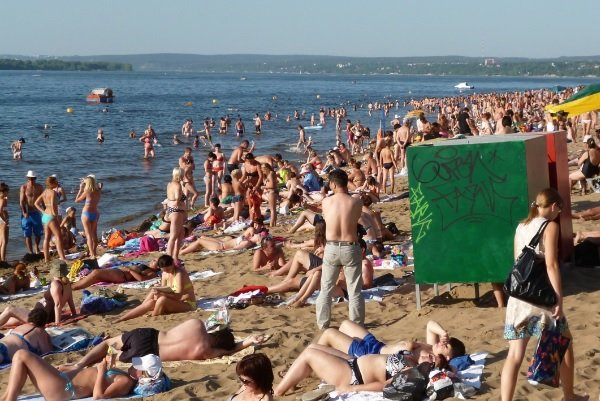 Омськ пляж