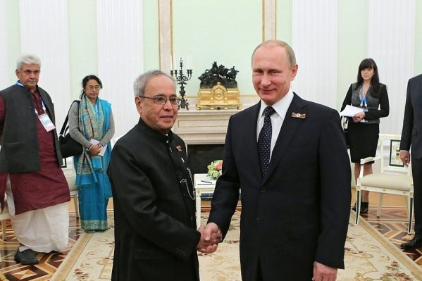 путин и Пранаб Мукерджи