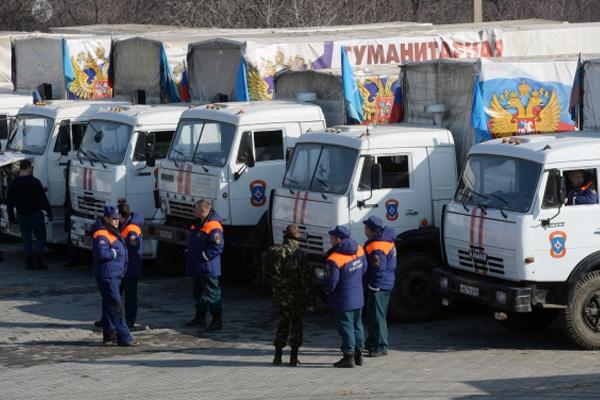 Госпогранслужба Украины: Загруженность авто русского «гумконвоя» составляла 55%