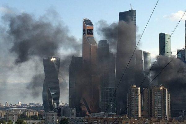 Устроящегося небоскреба в«Москва-Сити» произошел пожар