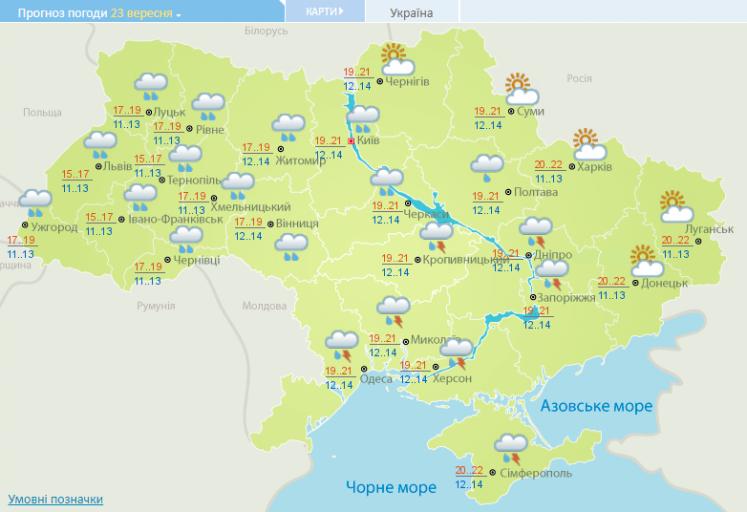 Українцям розповіли, якою буде погода навихідні
